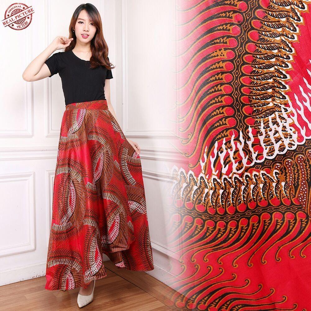 Glow Fashion Rok lilit batik maxi payung panjang wanita jumbo long skirt Reva