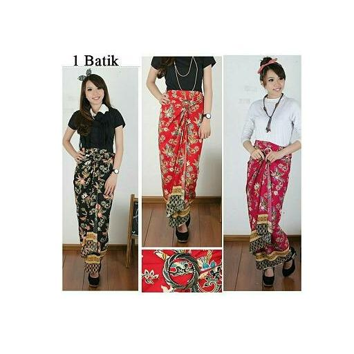 Glow Fashion Rok lilit batik panjang wanita jumbo long skirt Elvina