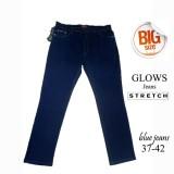 Harga Glows Celana Jeans Panjang Blue Jeans Jumbo Size 37 38 39 40 41 42 Celana Jeans Jumbo Wanita Celana Panjang Jeans Wanita Jumbo Murah