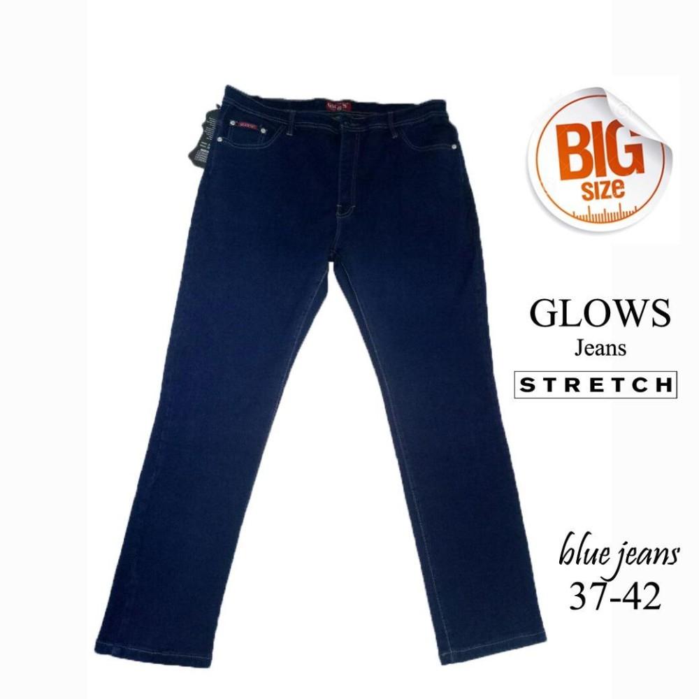 Glows Celana Jeans Wanita Jumbo Size 37 42 Warna Hitam Bahan Soft Pria 39 40 41 43 44 Cargo Pendek Ukuran Big Coklat Dongker Hijau Katun Twill Stretch Kqr08 Panjang Blue 38