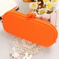 Toko Go Go Store Hot Silicone Spectacle Bag Glasses Soft Cover Pen Case Coin Wallet Purse Pouch Orange Intl Online Terpercaya