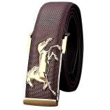 Gold Horse Leisure Leather Strap Pria Bisnis Sabuk Gesper Logam Belt Coffee Intl Unbranded Diskon 40