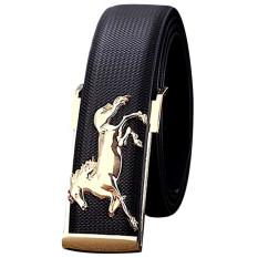 Jual Gold Horse Leisure Leather Strap Business Men S Belt Metal Buckles Belt Black Int One Size Intl Branded