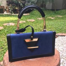 Golden Box Handle Rotelli Handbag