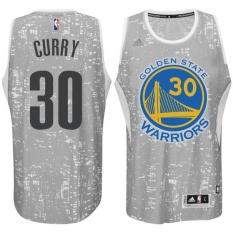 Golden State Warriors #30 NBA Pria Stephen Curry Lampu Kota Pria Basket Jersey Abu-abu Baik Harga Hot -Intl
