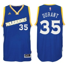 Golden State Warriors Authentic 2016-17 Crossover Men's Blue NBA Kevin Durant #35 Basketball Jersey Sports KD Fans (S-XXL) - intl