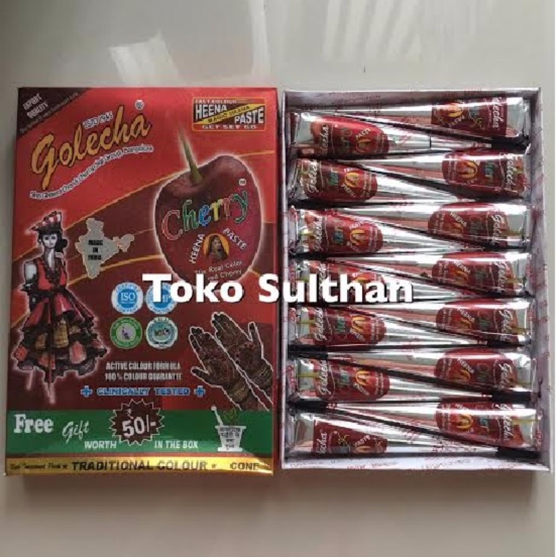 Pencarian Termurah Golecha Henna Cone Cherry Merah - 1box 12+2pcs sale - Hanya Rp42.975