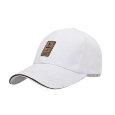 Diskon Golf Logo Katun Topi Bisbol Olahraga Golf Snapback Outdoor Sederhana Solid Topi Untuk Pria Putih Intl