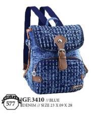 Golfer Gf.3410 Tas Backpack Wanita - Bahan Denim - 23x9x28 - Cantik Dan Menarik