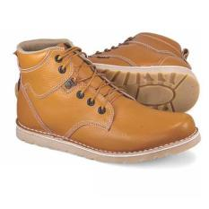 Golfer Gf.7821 Sepatu Boot Casual Pria-Leather (KULIT)-Kualitas Oke Edisi 2017(Coklat)