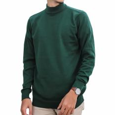 Jual Gomuda Sweater Rajut Pria Mock Turtleneck Hunter Green Gomuda