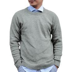 Jual Gomuda Sweater Rajut Pria O Neck Twist Greentea Branded Original