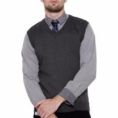 Harga Gomuda Sweater Rajut Pria Vest Abu Tua