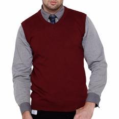 Review Toko Gomuda Sweater Rajut Pria Vest Marun Tua