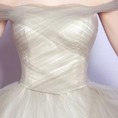 Gongzhuxinniang Gaun Seksi Ramping Gaun Pengantin Baju Pelayanan Pernikahan (Gambar Warna)