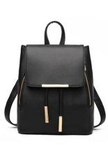 Jual Kulit Pu Yang Bagus Seperti Vintage Womens Bag Backpack Hitam Lengkap