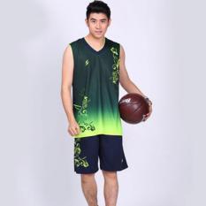 Toko Baik Kualitas Kering Cepat Dragon Percetakan Olahraga Pakaian Pria Basket Jersey Lengkap