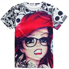 Toko Berkualitas Baik Fashion G*rl Dicetak Lengan Pendek Kerah Bulat Elastis Pecinta Olahraga Wanita Pria Unisex 3D T Shirt Lengkap