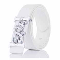 Toko Baik Kualitas Men S Fashion Bisnis Casual Belt Dragon White Intl Yang Bisa Kredit