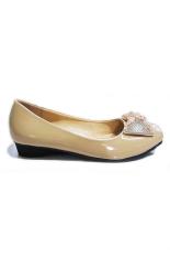 Harga Goodlook Mocca Amanda Flat Shoes Wanita Beige Goodlook Terbaik
