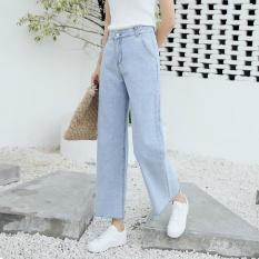 Goods In Transit 2017 Jeans Wanita Paige Straight Pants Celana Panjang (Biru Muda)-Intl