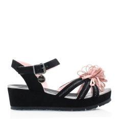 Gosh Wedges Slingback Sandals 080 Black
