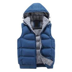 Penawaran Istimewa Gracefulvara Men Fashion Jaket Katun Tebal Musim Kerah Cold Gilets Cahaya Terbaru