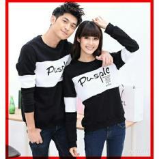 Gracestore - KAOS PASANGAN / T-shirt couple pusple - hitam putih