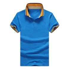 Grandwish Polo Kemeja Tombol Desain M-4XL (Sky Blue)-Intl