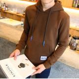 Harga Grandwish Pria Warna Murni Sweatshirts Desain Hoodie Korea Langsing M 3Xl Kopi International Terbaik