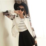 Review Toko Grandwish Wanita Floral Cetak Jaket Baseball Seragam Coat Single Breasted M 2Xl Putih Intl Online