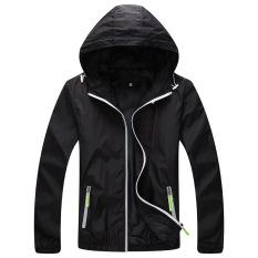 Ulasan Mengenai Grandwish Wanita Ringan Jaket Hoodies Pasangan Mantel Sportswear M 3Xl Hitam Intl