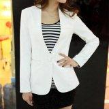 Model Grandwish Berwarna Murni Untuk Wanita Blazers Lambang Pendek Pakaian Kantor S Xl Putih Intl Terbaru
