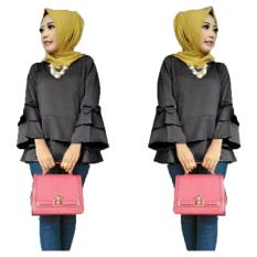 Spesifikasi Grateful Fashion Blouse Nasya 1 Hitam Best Seller Murah