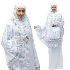 Grateful Fashion Mukena Dewasa Afiqa Katun Foil - Putih 1 - Best Seller