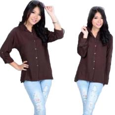 Jual Grateful Fashion Kemeja Elena 1 Coklat Best Seller Original