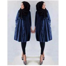 Harga Grateful Tunik Ermina Bahan Semi Jeans Navy Grateful Original