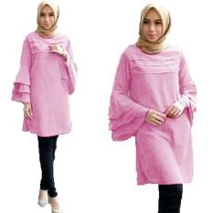Grateful Fashion Tunik Katty 1 - Baby Pink - Best Seller