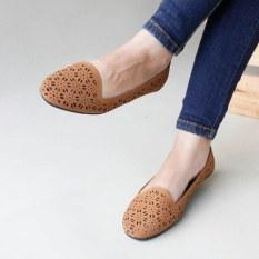Beli Gratica Flat Shoes Laser B07Sr Mocca Pake Kartu Kredit