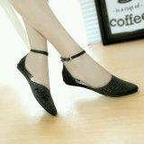 Gratica Sepatu Flat Flatshoes Laser Black Nfz 06 Jawa Barat Diskon