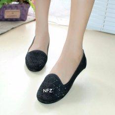 Diskon Gratica Sepatu Flat Flatshoes Laser Black Nfz 07Sr