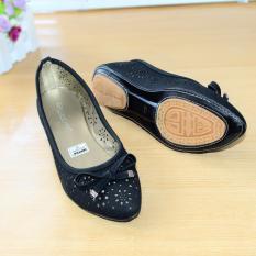 Gratica Sepatu Flat Flatshoes Laser Black NFZ-35
