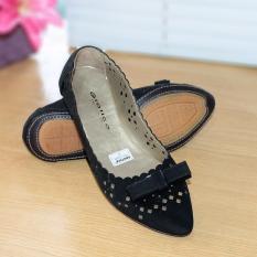 Katalog Gratica Sepatu Flat Flatshoes Laser Black Nfz 49 Gratica Terbaru
