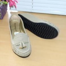 Gratica Sepatu Flat Flatshoes Laser Gray NFZ-09is
