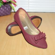 Jual Gratica Sepatu Flat Flatshoes Laser Maroon Nfz 28 Ori