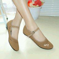 Gratica Sepatu Flat Flatshoes Laser Tan NFZ-09isIDR59999. Rp 59.999