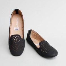 Pluvia - Gratica Sepatu Flat Shoes Wanita AL14 - Hitam