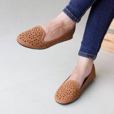 Pluvia - Gratica Sepatu Flat Shoes Wanita AL14 - Tan