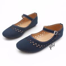 Review Gratica Sepatu Flat Shoes Aw65 Navy Jawa Barat