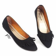 Promo Gratica Sepatu Flat Shoes Fringe Al36 Hitam Murah